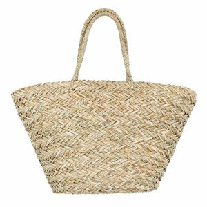 Paysan - Large French, Straw Bohemian Beach Bag