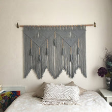 Load image into Gallery viewer, GRIS REVE - Large handmade Macrame wallhanging