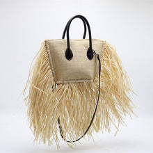 Load image into Gallery viewer, POURQUOI PAS! French Raffia starw bag