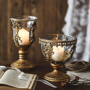 A home in France BAROQUE Vintage styled  candle holders