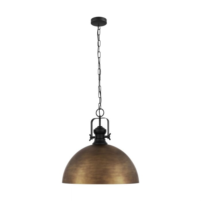 COMBWICH Pendant 530mm BLACK STEEL & BRONZE LARGE