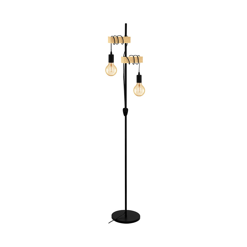 Townshend 2 Light F/L 32919N Timber/Blk