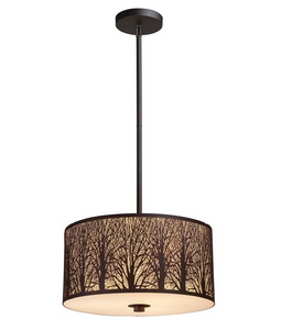 AUTUMN 02 Bronze Pendant 3 Light