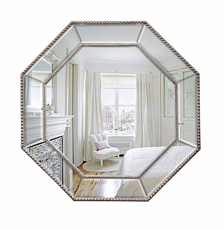 Octagon Mirror White Frame