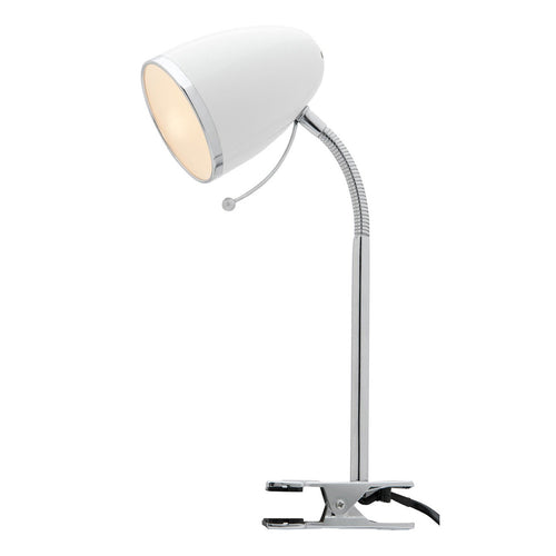 Sara Clamp Lamp White A13041Wht