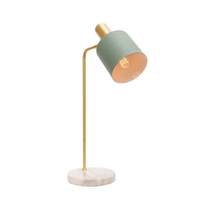 Addison Table Lamp Matt Jade and Marble