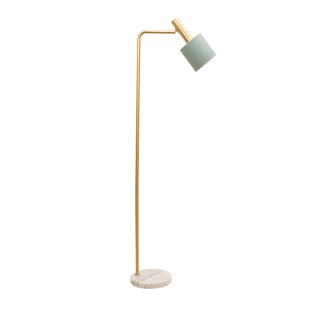 Addison Floor Lamp Matt Jade and Marble
