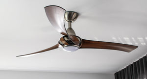 ARUMI CEILING FAN PEWTER KOA BLADES 52""