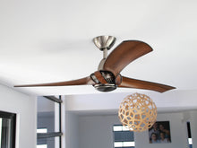 Load image into Gallery viewer, ARUMI CEILING FAN PEWTER KOA BLADES 52""