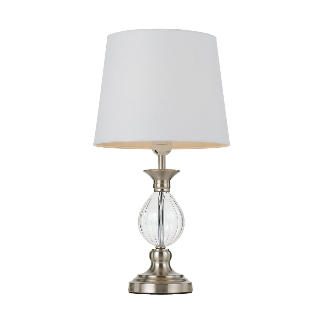 Crest Table Lamp Nickel / White