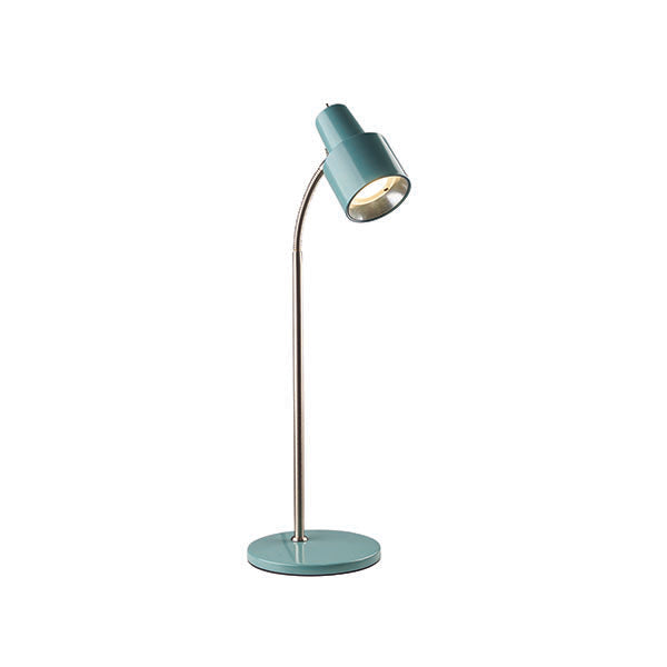Celeste Desk Lamp Dusted Jade and Bc