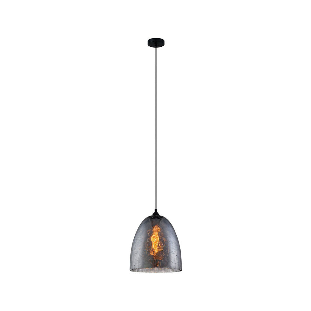Chuva 3 Smoke Glass/Black Pendant