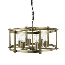 Load image into Gallery viewer, Finley 60 6Lt Pendant Antique Brass