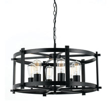 Load image into Gallery viewer, Finley 60 6Lt Pendant Black