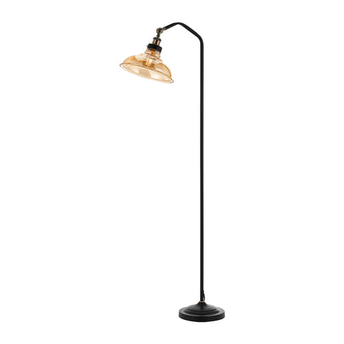 Hertel Floor Lamp Black / Amber