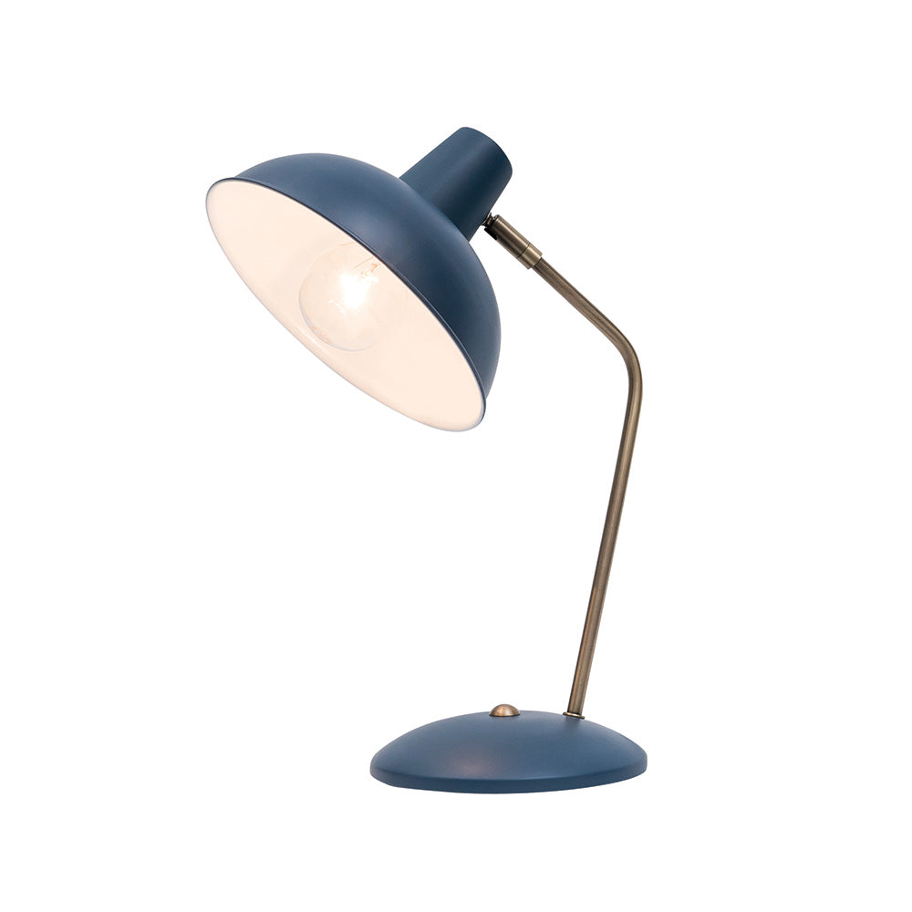 Lucy Table Lamp Navy Ant Brass A3811Nvy