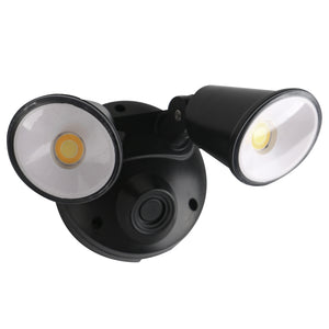 Defender Double Sensor Spot Black 2 x 10w