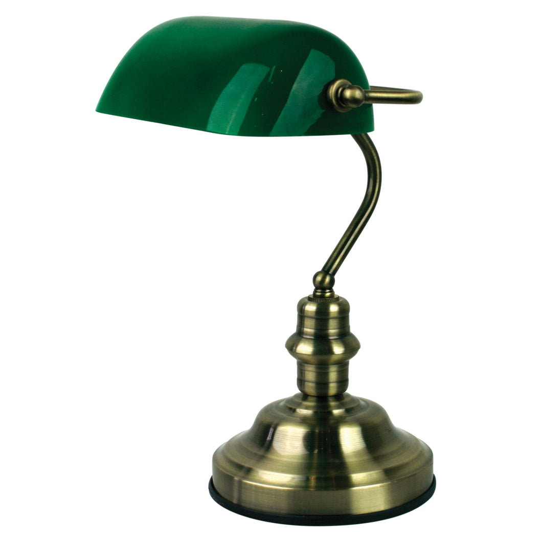 BANKERS LAMP ANTIQUE BRASS (switched) OL99441AB