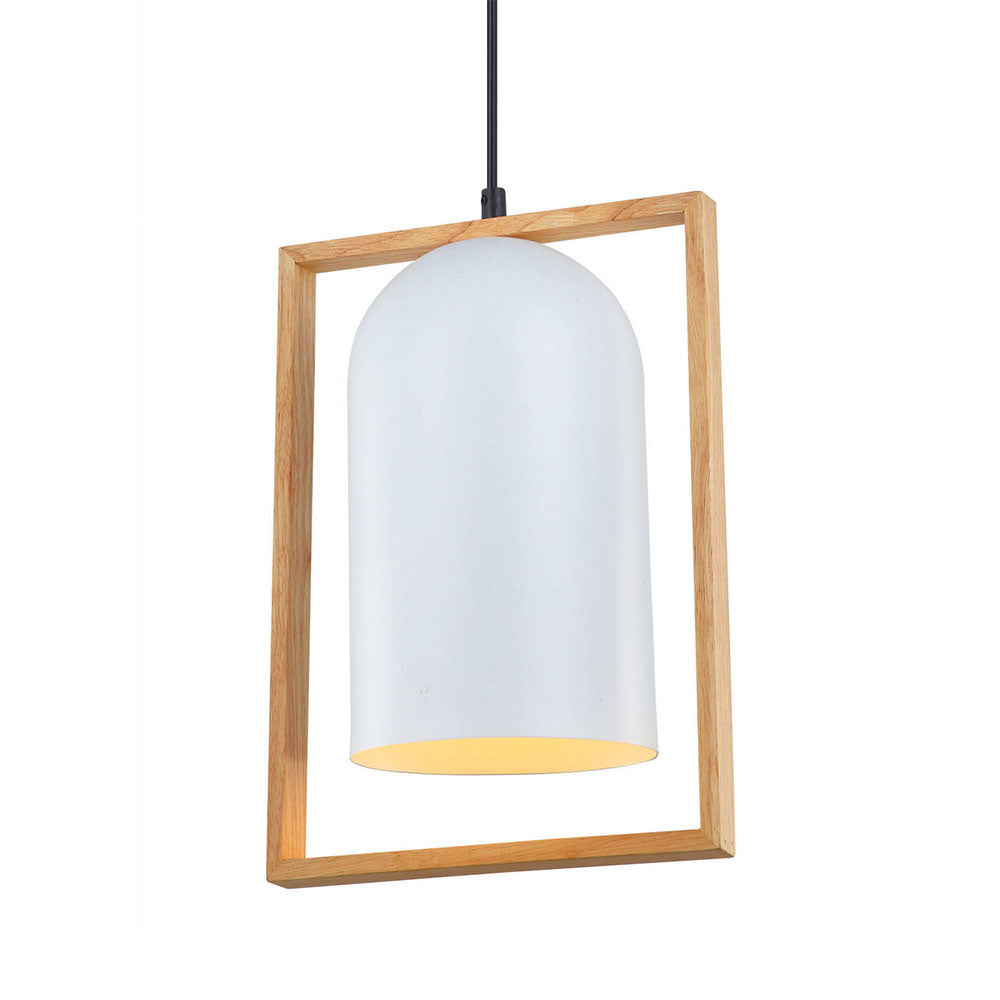 Swing1 Pendant Oblong White and Timber