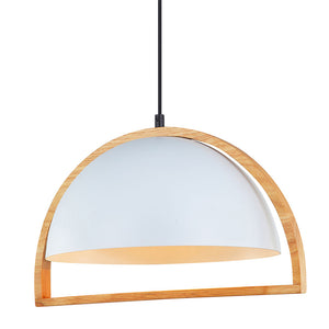 Swing3 Pendant Dome White and Timber