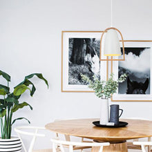 Load image into Gallery viewer, Swing1 Pendant Oblong White and Timber