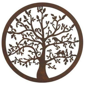 Wall Plaque Circular Tree U1884-4