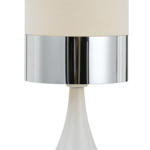 Akira Table Lamp White and Chrome