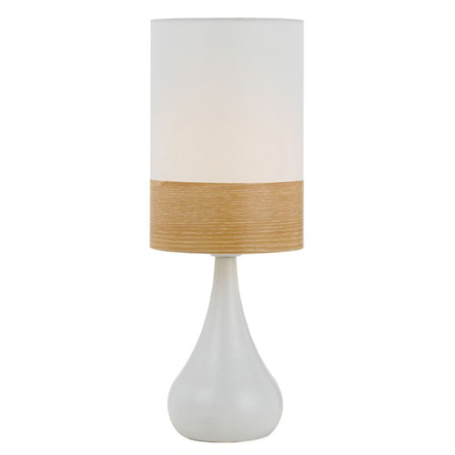 Akira Table Lamp White and Oak