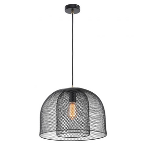 Milford Double-Layered Wire Mesh Pendant - Black