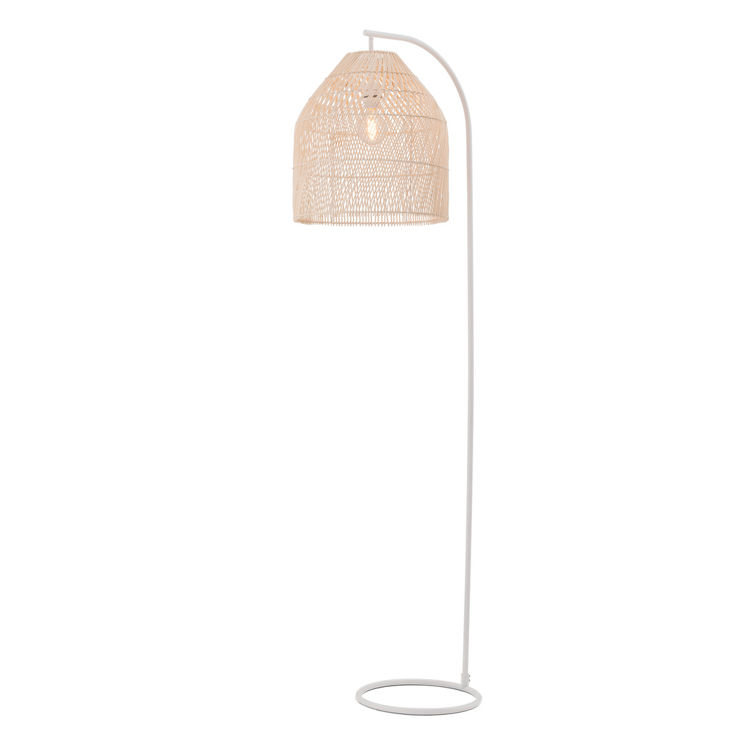 Sawyer Rattan Floor Lamp - Natural - E27