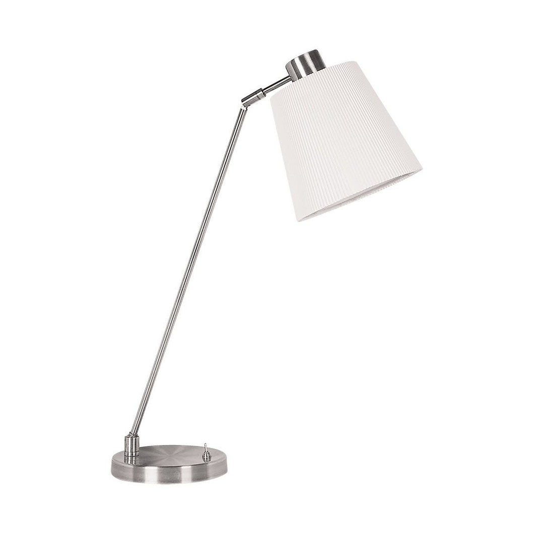 Edson Table Lamp Nickel White