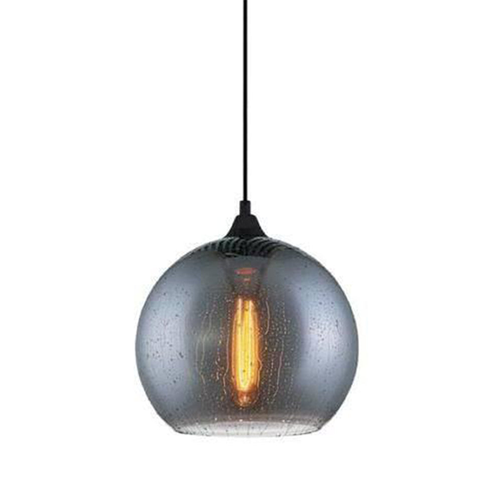 Chuva 2 Smoke Glass/Black Pendant