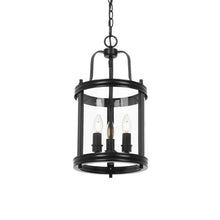 Load image into Gallery viewer, Newark Blk 3Lt Clear Pendants