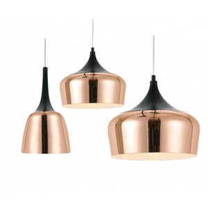 Polk PE30 Medium Pendant Black and Copper Metal