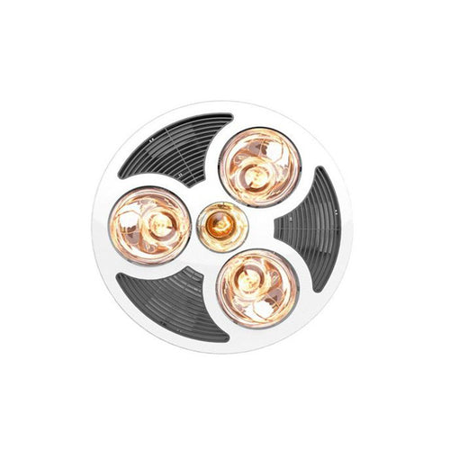 Steampro Round 3 In 1 3Xheat 6W Led Wh