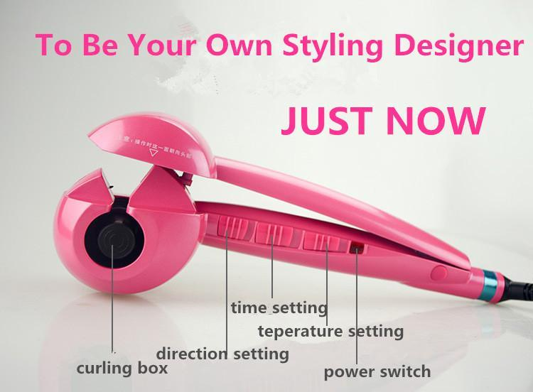 Automatic Steam Hair Curler