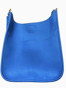 Ah-Dorned Mini Vegan Messenger Bag- Blue