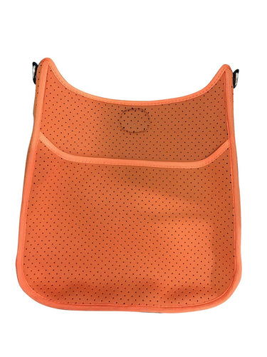 Ah Dorned Classic Neoprene Messenger- Orange- Gold Hardware