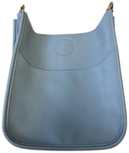 Ah Dorned Mini Vegan Messenger - Light Blue- Gold Hardware.
