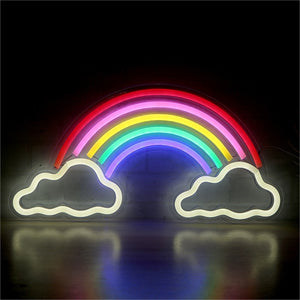 Colorful Rainbow Neon Sign