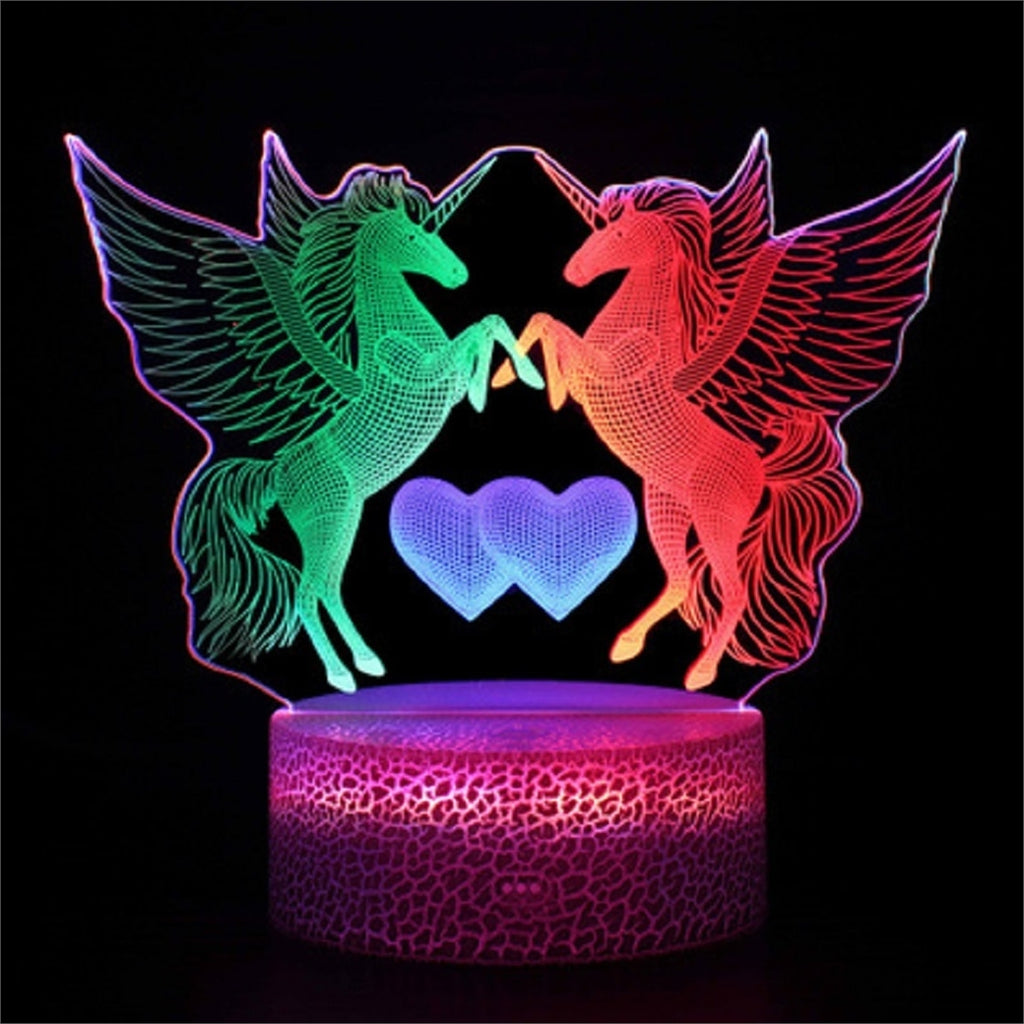 Unicorn Love 3D Lamp