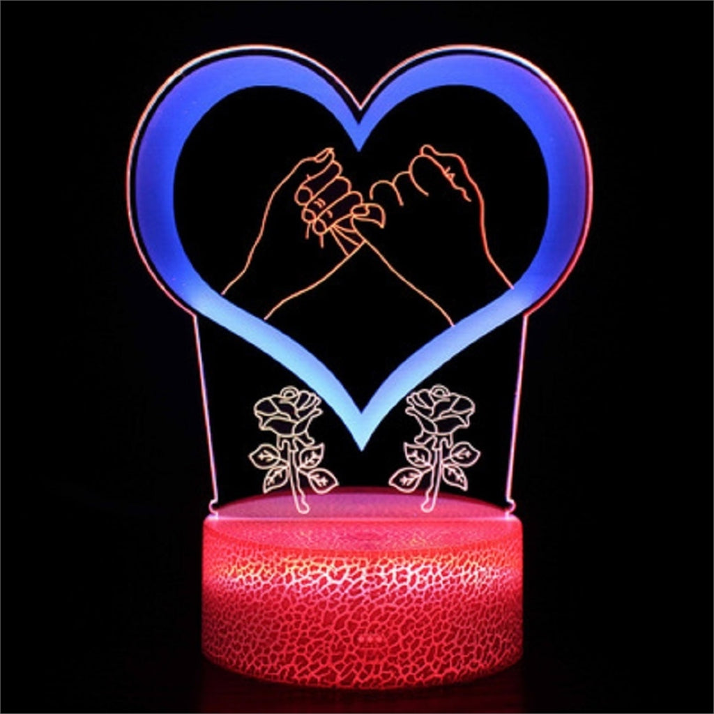 Touching Love 3D Lamp