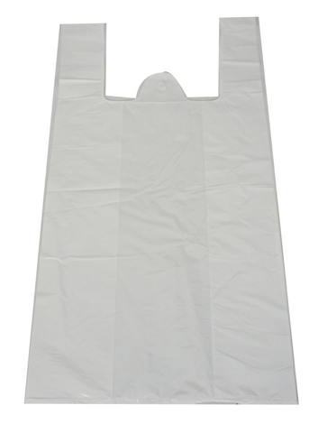 Sac d'épicerie Blanc S2 (Poly white Shopping Bag S2) *16x19in x0.8mm*