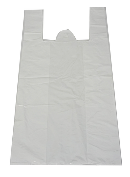 Sac d'épicerie Blanc S4 2M (Poly white Shopping Bag S4 2M) *17 x 20in x 2 mm*