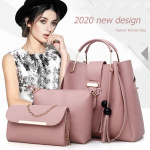 4 Pcs / 1 Set 2020 New Fashion Women Handbag