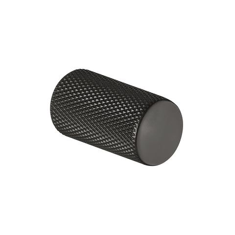 Knurled Black Cupboard Knob