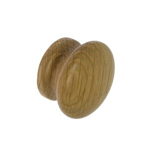 Solid Oak Cupboard Door Knob 44mm