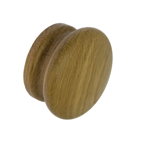 Solid Oak Large Cupboard Knob 55mm