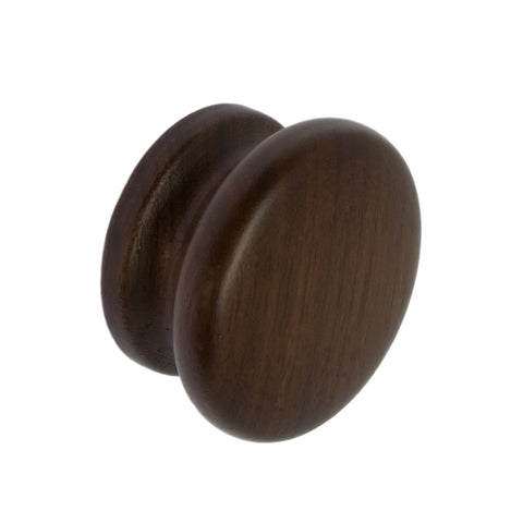 Walnut 50mm Cupboard Knob