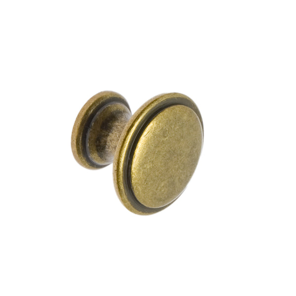 Antique Brass Finish Cupboard Knob